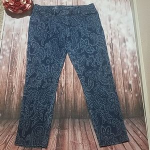 Liz Claiborne sz 12 floral stretch jeans